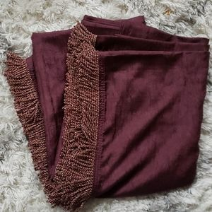 Croscill Home Fringed Crepe Scarf Wine Color
